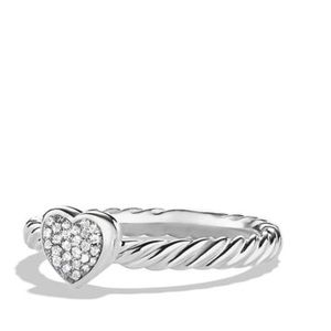David Yurman cable Diamond Heart Ring(Authentic!!)